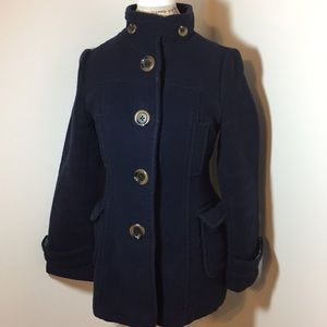 Old Navy woman's small pea coat wool blend